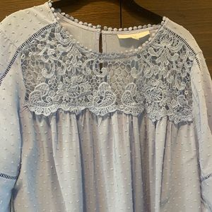 Lavender embroidered blouse